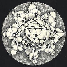 Zendala by Certified Zentangle Teacher Margaret Bremner