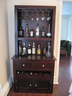 Build A Small Liquor Cabinet