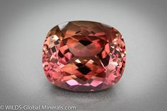 Tourmaline from Nigeria - Pink, orange, purple © WILDS Global Minerals
