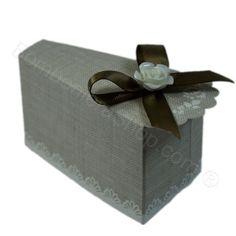 Fetta Torta Shabby Chic con confetti inclusi