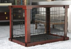 Bertie Deluxe Pet Crate in Brown