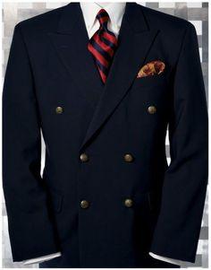 Mens Navy Blue Double Breasted Blazer is part of Double breasted blazer - Mens Fashion Suits, Mens Suits, Suit Men, Emo Fashion, Mens Double Breasted Blazer, Travel Blazer, Mens Attire, Well Dressed Men, Gentleman Style