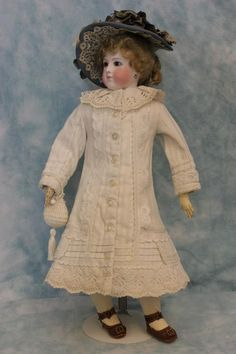 "16"" Antique French Fashion Doll by Eugene Barrois c.1870s Chantilly Face Dressed 