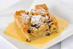 Dessert Recipe: Bread Pudding in Bourbon Sauce