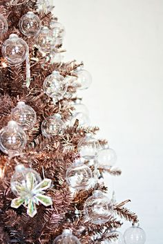 Rose Gold DIY (fake) painted Christmas Tree                                                                                                                                                                                 More
