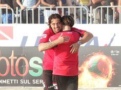 Coppa Italia Enel - La gioia di Stefano Santini (allenatore Viareggio) che conquista l'accesso in finale