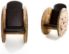Cable spool chair. Benidorm, Spain, España