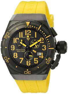 Swiss Legend Men's 'Trimix Diver 2.0' Swiss Quartz Stainless Steel Automatic Watch (Model: 13842-BB-01-YAS) >>> Visit the image link more details.