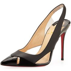 "Christian Louboutin ""Air Chance"" Slingback Pumps in Black"