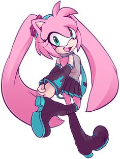 Amy as Miku!!!♡