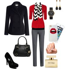 Business casual outfit.