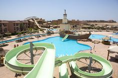 Rooms with poolside views of Egypt's Red Sea – vacations don't get any better than this! The Park Inn by Radisson Sharm El Sheikh Resort has multiple pools and a water park complete with a lazy river.