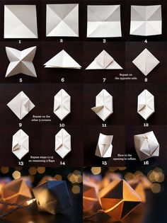 I am in love with these little origami lights.-www.motheropedia.com