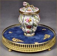 Beautiful old French inkwell.