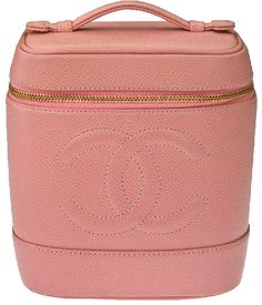 80133cc997 Pink vintage Chanel make-up travel case for the woman who has it all