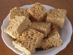 Scotcheroos - Rice Krispie treats made with peanut butter