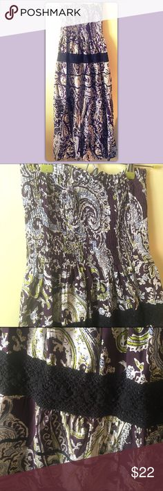 Maxi Hippie Boho Dress | Size Small  Bundles are always 1/2 off Everyday!  Boho Paisley Maxi Dress 100% cotton Elasticized bodice Ruffle Hippie Dress Super Cute!! In excellent condition  Size Small ✨Bundle any 2 or more items and save 50% off✨  Respectful offers are always welcome. I will not accept offers for less than 1/2 off.   Thanks for looking! Fire Los Angeles Dresses Maxi
