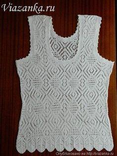 V-neck Knit Top Free Pattern Top Tejidos A Crochet, Crochet Blouse, Knit Crochet, Loose Fitting Tops, Crochet Woman, Lace Knitting, Knitting Designs, Knit Patterns, Crochet Clothes
