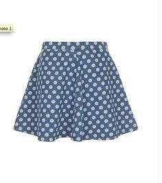 MOTO SPOT SWING DENIM SKIRT by Top Shop.