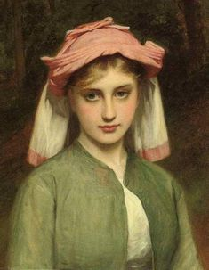 Charles Sillem Lidderdale (British artist, 1831-1895) - Young Girl in Forest 1878