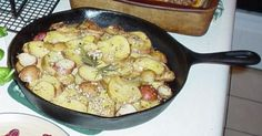 Sarah's Rosemary Potatoes (yum) + many more Cast Iron Recipes at source. Cooking with Cast Iron tips on my Great Ideas board.