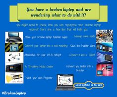 You have a broken laptop and are wondering what to do with it? You might need to check, how you can repurpose your broken laptop yourself. Here are a few tips that will help you. Do want know information in detail