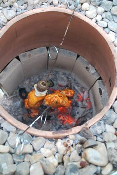 Tandoori Chicken in Clay Pizza Oven, Bread Oven, Clay Oven, Cajun Microwave, Barbecue, Backyard Barbeque, Tandoor Oven, Oven Diy, Outdoor Kitchen Design