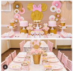 Pink and gold, girls theme, Disney, mini mouse, cute, adorable