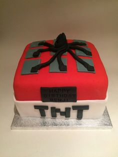 TNT Mine craft cake