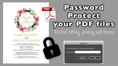 How to password protect PDF files | Secure your PDF documents | Eternal ...