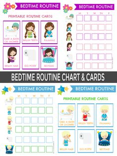 10 Helpful Tips For Putting a Child to Bed Who Fights Sleep - Carola Toddler Routine Chart, Daily Routine Chart For Kids, Toddler Chart, Charts For Kids, Bedtime Routine Printable, Bedtime Chart, Bedtime Routine Chart, Chore Cards, Toddler Bedtime