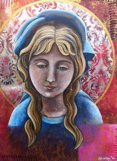 Painting, Ave Maria, Icon, 60 x 80 cm, € 300,00, Facebook: Shirley's art