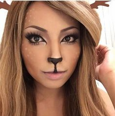 Promise has a great makeup tutorial on how to create this look. She captured the deer look perfectly, without overdoing it.