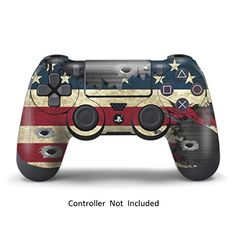 Skins for PS4 Controller  Decals for Playstation 4 Games  Stickers Cover for PS4 Slim Sony Play station Four Controllers PS4 Pro Accessories PS4 Remote Wireless Dualshock 4 Skin  Battle Stripes