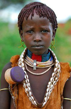 Africa | Hamer child, Ethiopia | © Sergio Pessolano Natural style, natural beauty sadee says