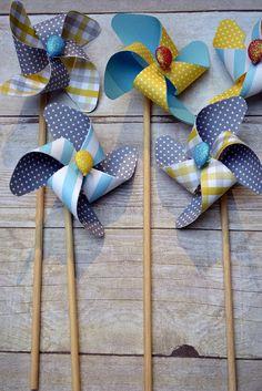 heathoriginal: Owen's Pinwheel Party #pinwheel #favor