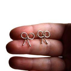 Sterling Silver Bow Earrings by Rachel Pfeffer