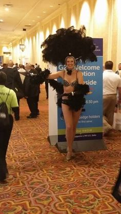 Las Vegas Showgirl among G2E 2015 attendees. Global Gaming Expo 2015