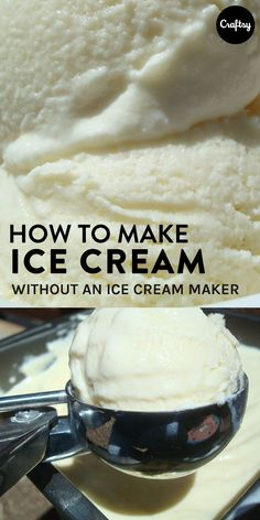 Any ice cream recipe can be adapted to be made without the machinery! Learn how to make your own ice creanm without an ice cream maker. #ManAboutCake