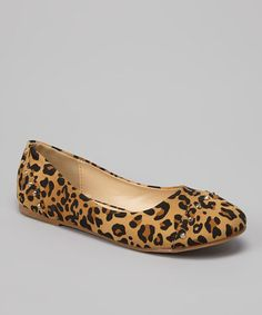 Another great find on #zulily! Leopard Patent Stud Lovely Flat #zulilyfinds