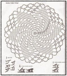 Filet Crochet Doily Diagram, Filet, Free Engine Image For .This Photo was uploaded by senhora_rocha.Ingrid Marcia uploaded this image to 'Croche See the album on Photobucket.The website is russian but it's much easier to just read the pattern on a co Motif Mandala Crochet, Crochet Doily Diagram, Crochet Diy, Crochet Circles, Crochet Stitches Patterns, Crochet Chart, Crochet Squares, Thread Crochet, Crochet Designs