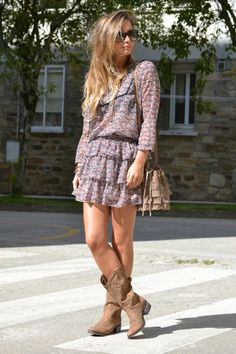 ruffles, fringe, and boots.