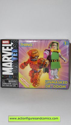 minimates THING UNMASKED DR DOOM marvel universe fantastic four 4 action figures
