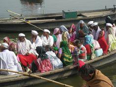 Pilgrims on the Ganges, Varanasi, India