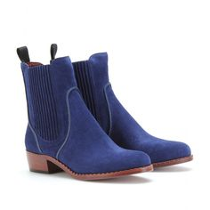 CLIPPY SUEDE CHELSEA BOOTS  seen @ www.mytheresa.com