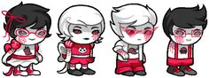 ((Eeee, more Crockerstuck! The kids look so much more evil now, but just- They actually become cuter.))
