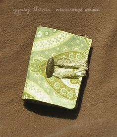 Green and Gold Vintage Tea Wallet ~ Gypsy Thread