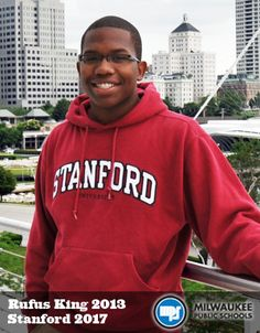Like many of his peers at Rufus King International High School, Langston Peoples carried a heavy load of honors and AP courses, plus the other activities associated with academic achievers including National Honor Society and National Merit Scholar programs. #StartStaySucceedMPS International High School, National Honor Society, School 2017, Public School, Highlights, Graphic Sweatshirt, College, King, Activities