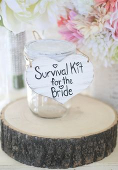 Bridal Shower Gift Survival Kit For The Bride Shabby Chic Wedding