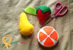 Some felt fruits for the new spring mobile